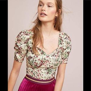 NWT Anthropologie Maeve Alchemy floral top